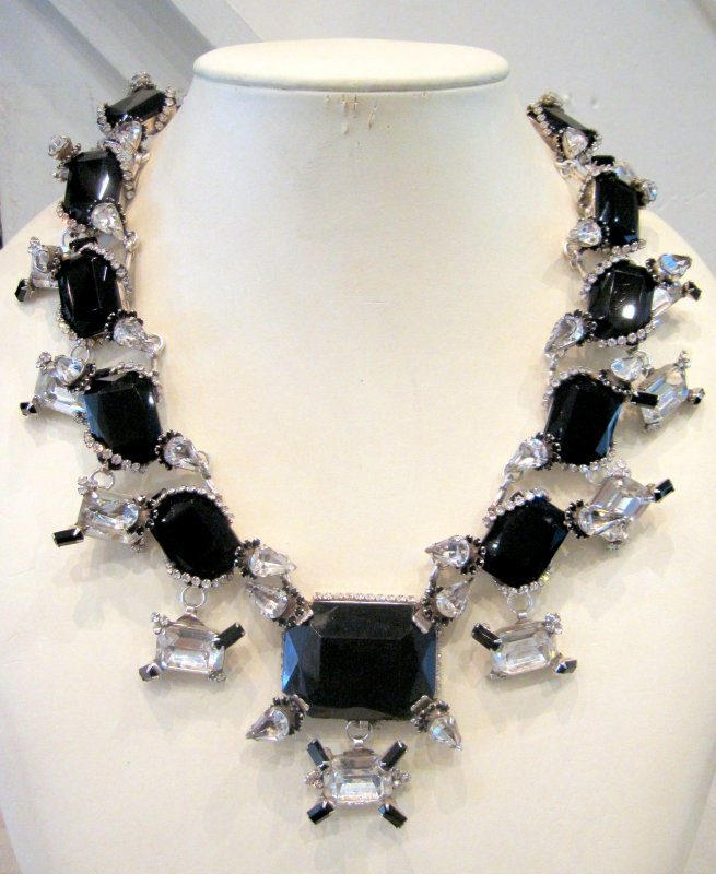 Harlequin Market Black Crystal Necklace