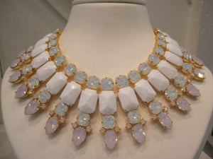 Harlequin Market Opalescent Crystal Necklace
