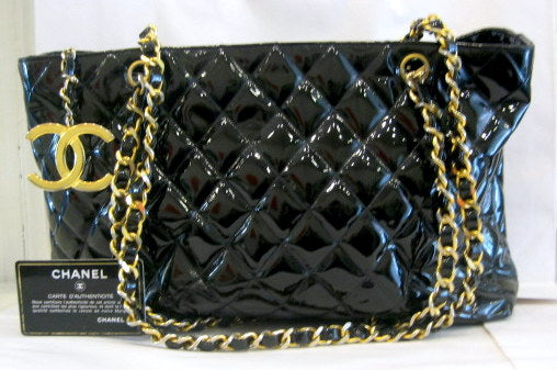 Vintage Chanel Patent Leather Bag
