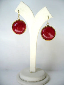 Pate-de-verre Single Drop Earrings
