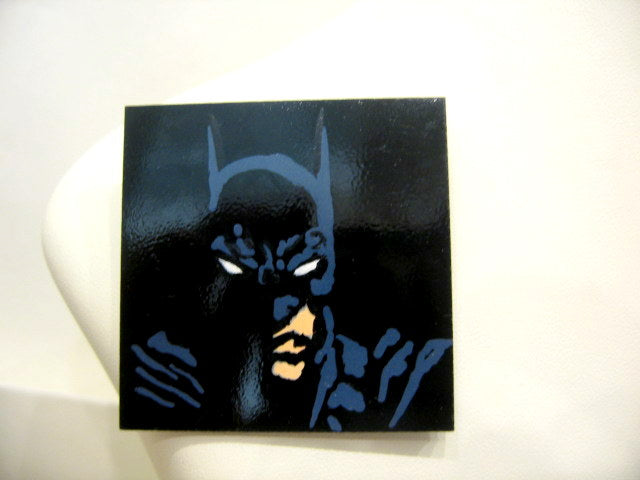 Hand Painted 'Batman' Plastic Brooch