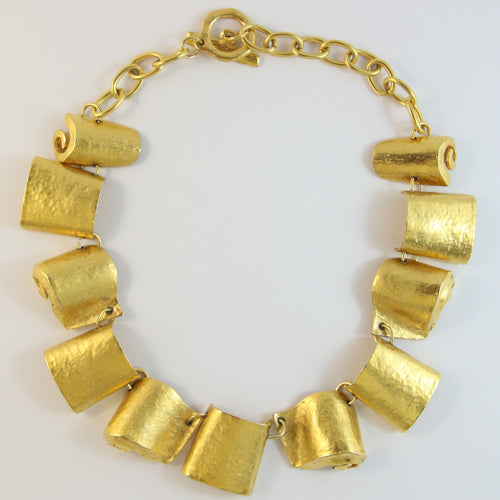 Signed Dalphine Nardin Paris Vintage Gold Tone Necklace