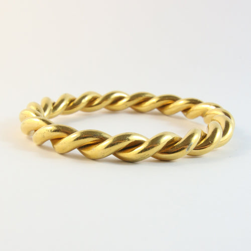 French Vintage Gold Twist Bangle
