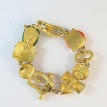 Load image into Gallery viewer, Christian Lacroix Vintage Multi-Colour Stone & Crystal Bracelet
