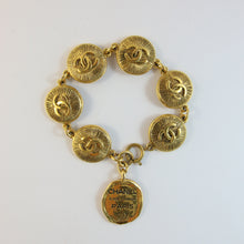 Load image into Gallery viewer, Signed Vintage Chanel Coin Bracelet