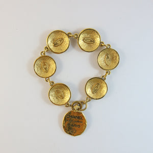 Signed Vintage Chanel Coin Bracelet
