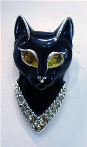 Vintage Egyptian Cat Brooch