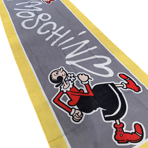 Vintage Moschino Olive Oil Cartoon Silk Scarf