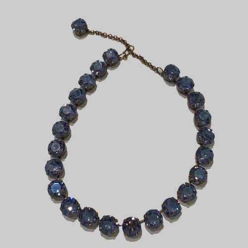 Harlequin Market Large Austrian Crystal Accent Necklace -Tanzanite