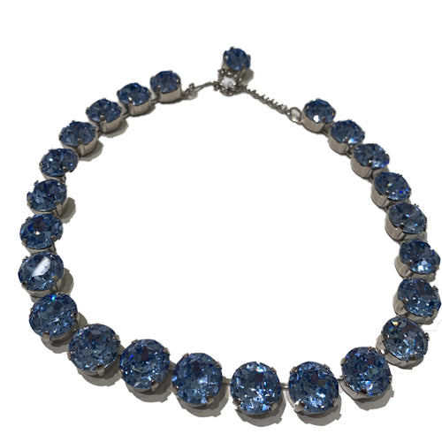 Copy of Harlequin Market Large Austrian Crystal Accent Necklace -Light Sapphire