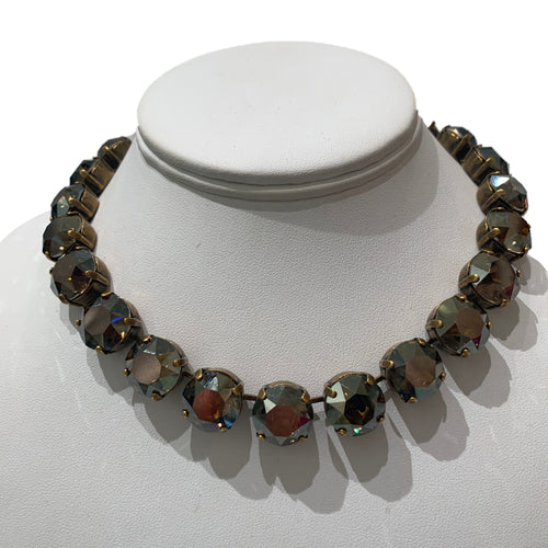 Harlequin Market X-Large Austrian Crystal Accent Necklace -Smokey Quartz