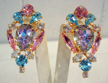 Load image into Gallery viewer, Harlequin Market Crystal Earrings-(Clip-On Earrings)