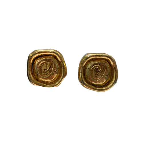 Vintage Christian Lacroix Gold Earrings (clip-on)