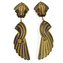 Load image into Gallery viewer, Joseff of Hollywood Wings of Victory earrings c. 1940 - (Clip-On Earrings)