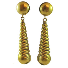Load image into Gallery viewer, Joseff of Hollywood swirl earrings c. 1950