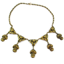 Load image into Gallery viewer, Joseff of Hollywood turban head pendants necklace c.1940