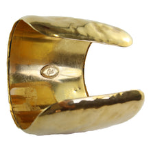 "Load image into Gallery viewer, Christian Lacroix Vintage Polished Gold Cuff Signed ""CL"" c.1980s"
