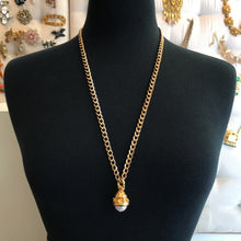 Load image into Gallery viewer, 18kt Gold Plated Layering Chain Necklace With Vintage Pendant