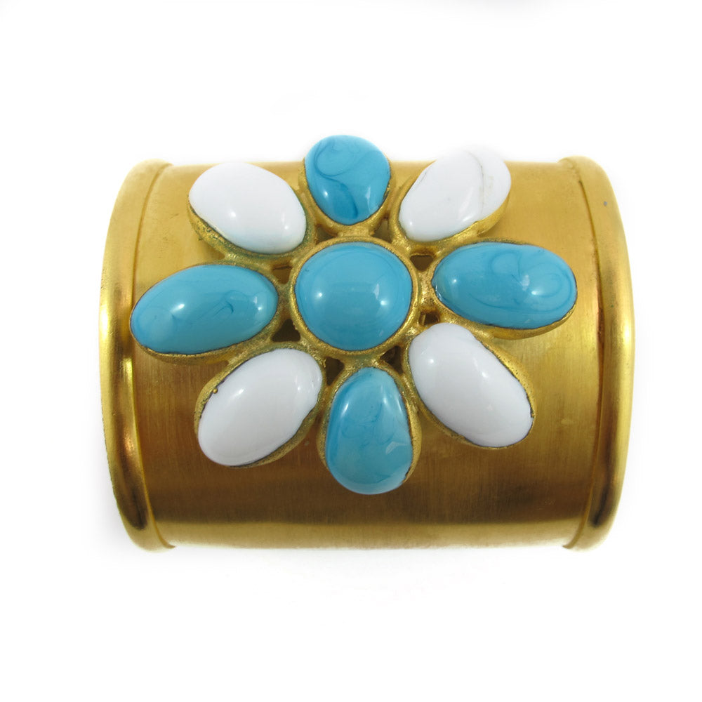 Augustine by Theory GRIPOIX Pate-de-verre Gilded Gold Cuff