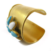 Load image into Gallery viewer, Augustine by Theory GRIPOIX Pate-de-verre gilded gold cuff