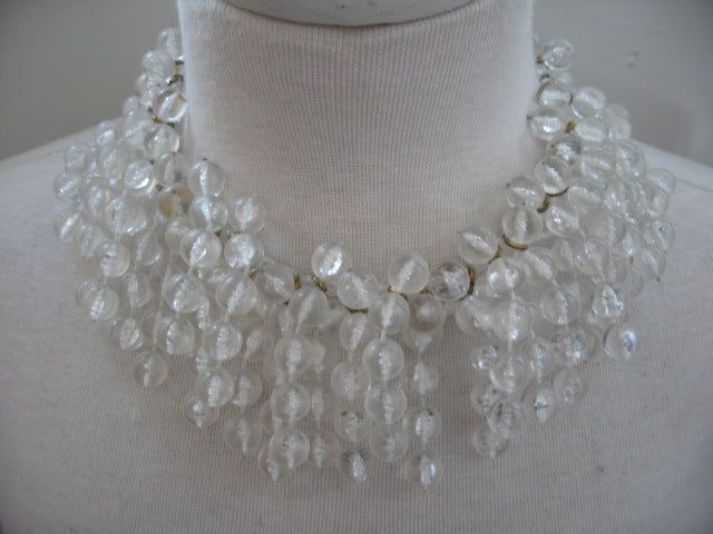 French Vintage Lucite Necklace