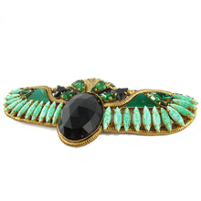 Load image into Gallery viewer, Signed 'Hanna Bernhard' Egyptian Revival Scarab Brooch