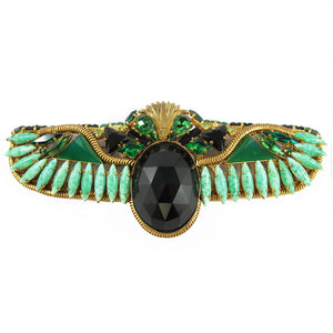 Signed 'Hanna Bernhard' Egyptian Revival Scarab Brooch