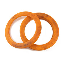 Load image into Gallery viewer, Vintage flat edge Bakelite spacer bangles c.1950's - marbled banana