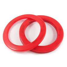 Load image into Gallery viewer, Flat sided Bakelite spacer bangles c.1950's - marbled red