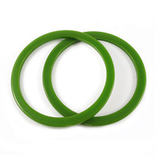 Load image into Gallery viewer, Sliced Bakelite spacer bangles c.1950's - evergreen