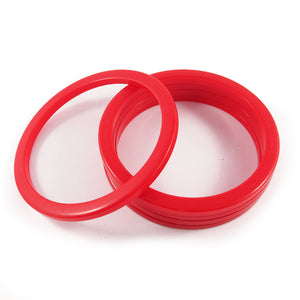 Sliced Bakelite spacer bangles c.1950's - red opaque