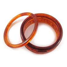 Load image into Gallery viewer, Rounded Bakelite spacer bangles c.1950's - root beer
