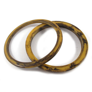 Sliced Bakelite spacer bangles c.1950's - mississippi mud