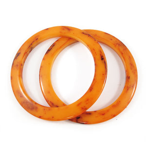 Elliptical Bakelite spacer bangle c.1950's - mississippi mud