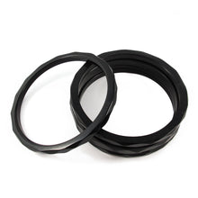 Load image into Gallery viewer, Bakelite spacer bangles c.1950's - black opaque