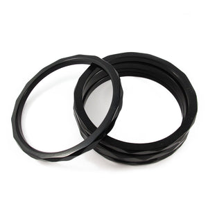 Bakelite spacer bangles c.1950's - black opaque