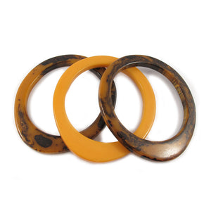 Egg shaped Bakelite spacer bangles c.1950's