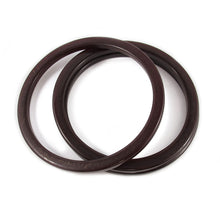 Load image into Gallery viewer, Bakelite spacer bangles c.1950's - chocolate brown