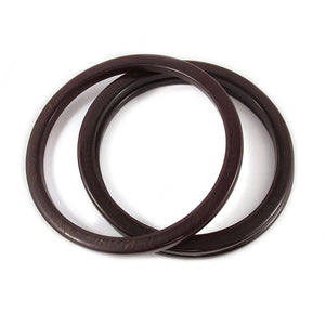 Bakelite spacer bangles c.1950's - chocolate brown