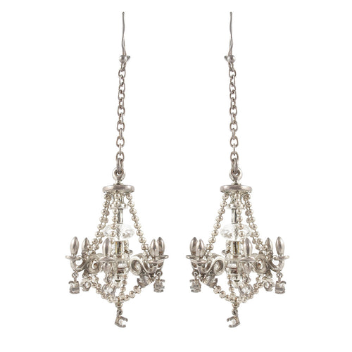 William Griffiths Sterling Silver Chandelier Earrings