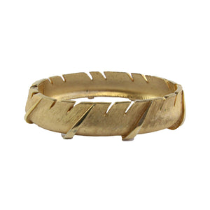 Vintage Trifari Brushed Gold Tone Cuff c.1980s
