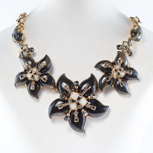 Load image into Gallery viewer, Vintage Oscar de la Renta vintage gold-tone multi flower statement necklace c. 1970
