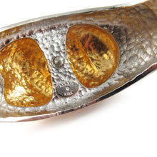 Load image into Gallery viewer, Signed 'Alexis Kirk' silver and gold tone cuff