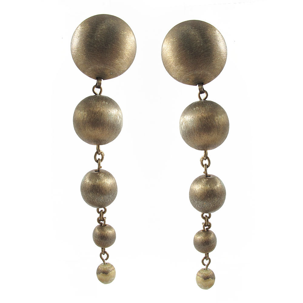 Vintage ball and chain drop earrings c. 1980's