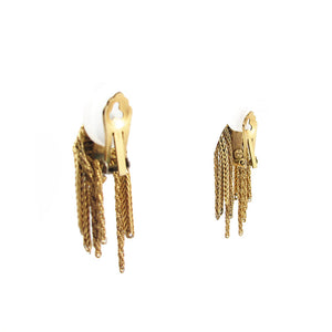 Signed Christian Dior French vintage tassel earrings
