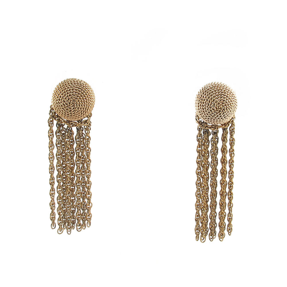 USA Signed Napier tassel earrings c. 1950's