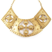 Load image into Gallery viewer, Rare Vintage Signed ACCESSOCRAFT N.Y.C Etruscan Revival Bib Neckpiece c. 1950