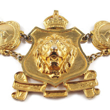 Load image into Gallery viewer, Bold Vintage Accessocraft NYC Lion Head Shield Emblem Statement Runway Necklace c.1960's