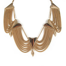 Load image into Gallery viewer, USA vintage gold plated leaf detail neckpiece