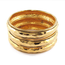 Load image into Gallery viewer, Signed Chanel gold tone bangle set c. 1980's